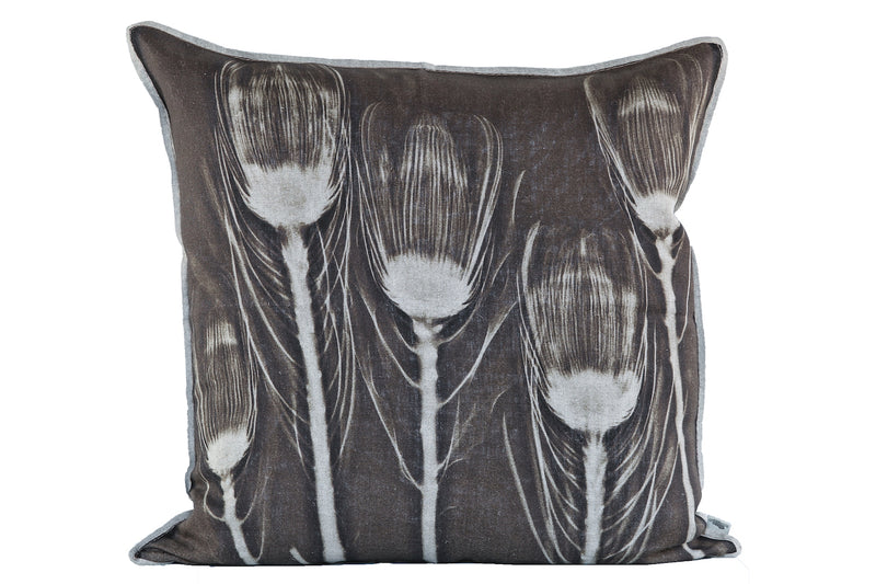 Will's Rust Protea Cushion, Printed