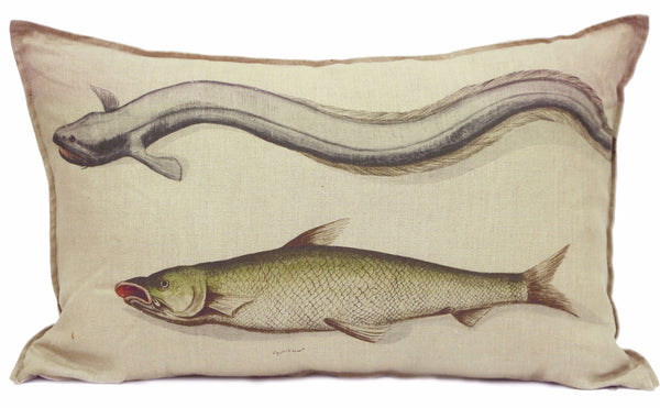 Yellow Fish Cushion, Printed