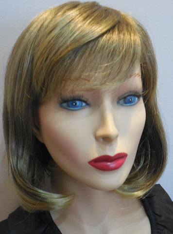 Clearance Display Model Wig | Chin Length Bob Dark Blonde | 100% Hand-tied