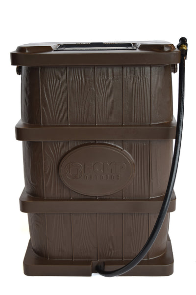 Wood Grain Rain Barrel