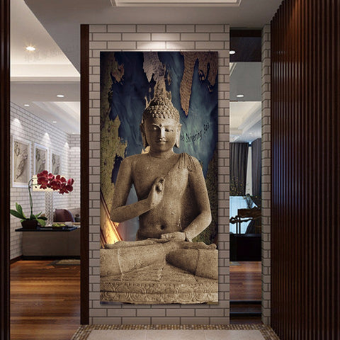 Praying Buddha Canvas Wall Art
