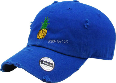 Pineapple Embroidery Dad Hat Baseball Cap