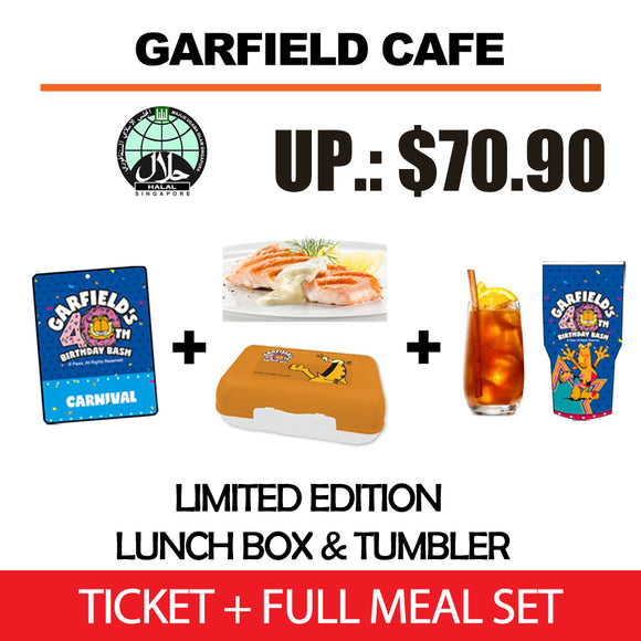 [Garfield Cafe] Garfield Carnival Ticket + Full Meal Set [Early Bird Sales]