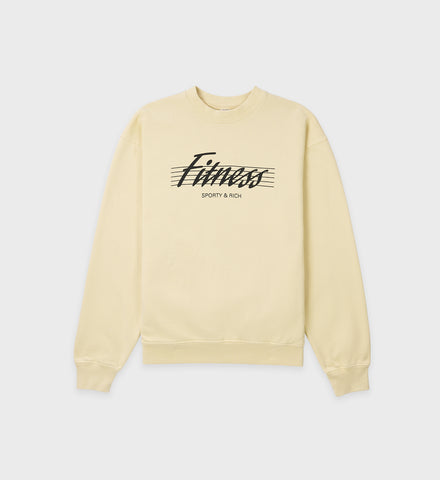 80s Fitness Crewneck - Cream Puff