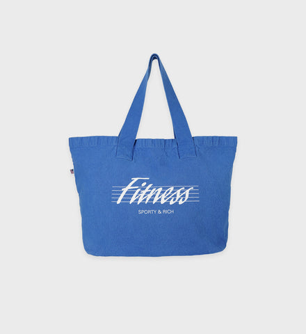 80s Fitness Tote Bag - Sapphire