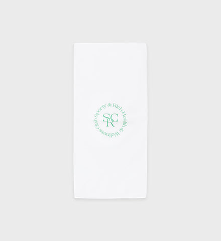 Gym Towel - White/Kelly Green