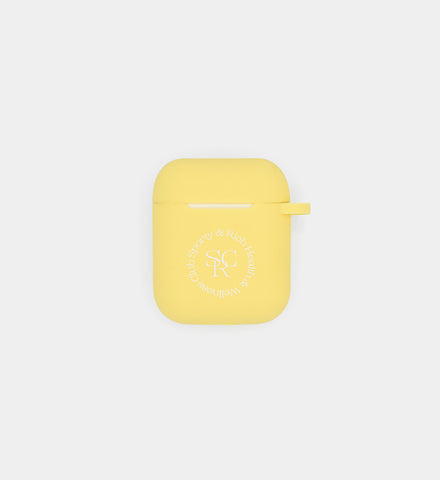 AirPod Case- Light Yellow SRHWC Logo