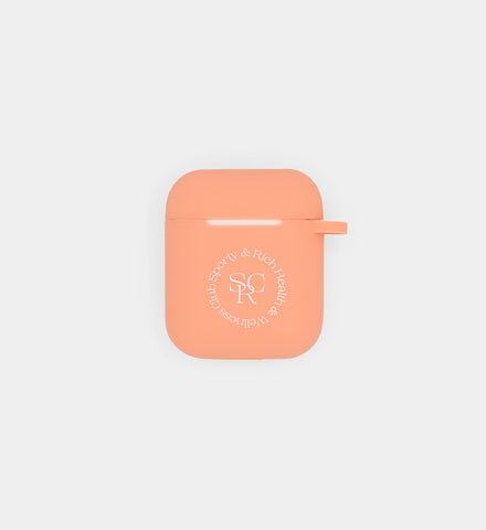 AirPod Case- Peach SRHWC Logo