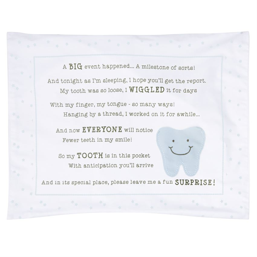 TOOTH FAIRY PILLOWCASE/Blue - Southern Style and Stash A Specialty Boutique