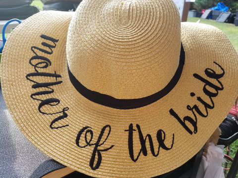 Mother of the Bride Floppy Sun Hat - Southern Style and Stash A Specialty Boutique