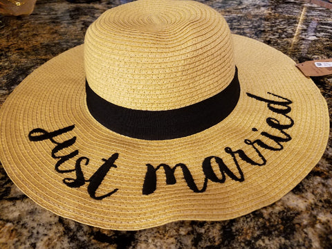 Women's Just Married Hat - Southern Style and Stash A Specialty Boutique