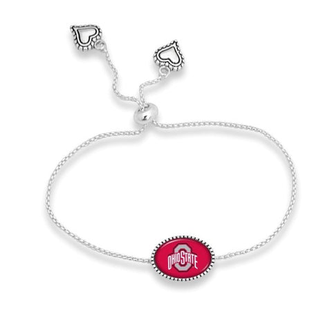 Officially licensed, silver tone adjustable bracelet with university name. - Southern Style and Stash A Specialty Boutique