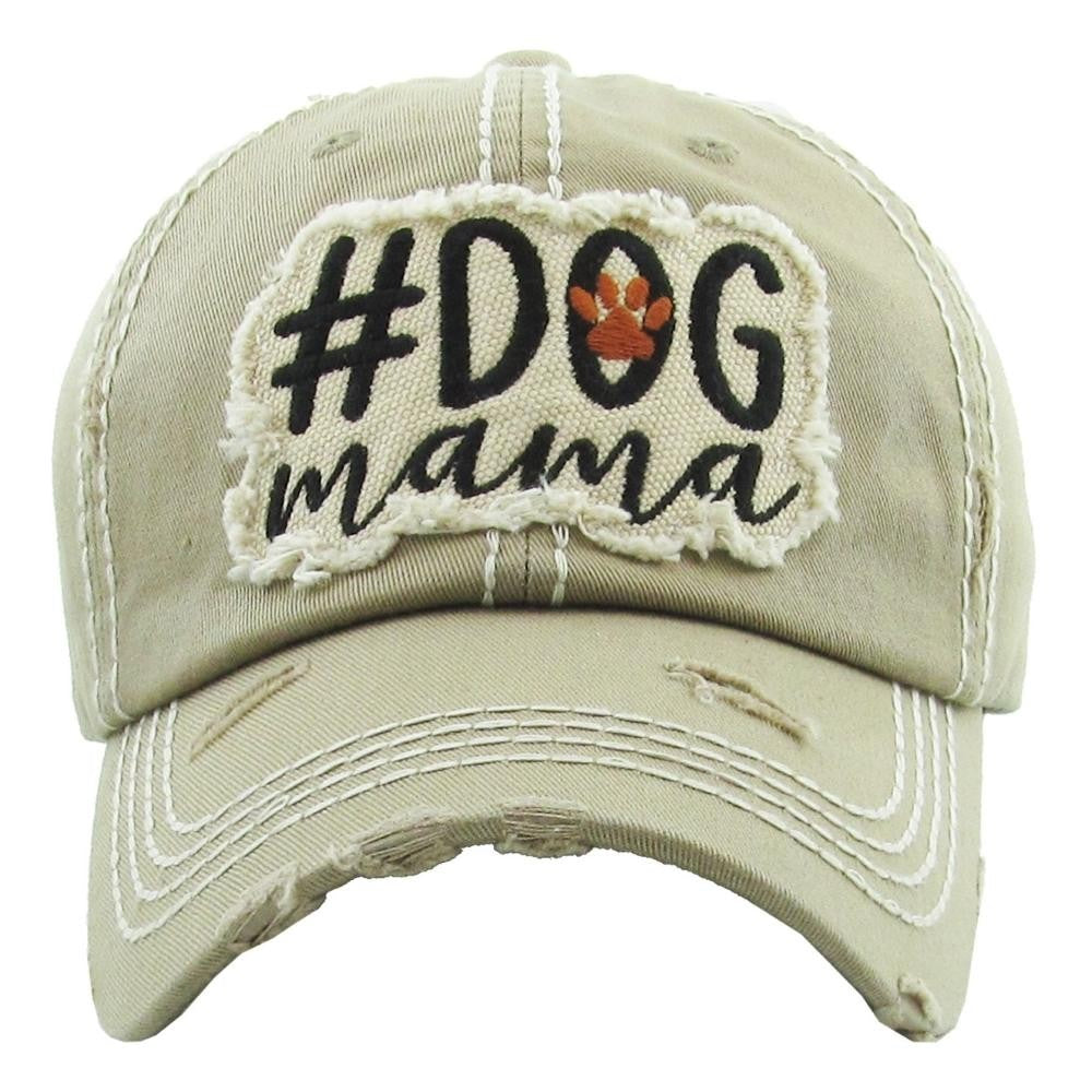 "Vintage, distressed baseball cap featuring ""#Dog Mama"" embroidered detail. - Southern Style and Stash A Specialty Boutique"