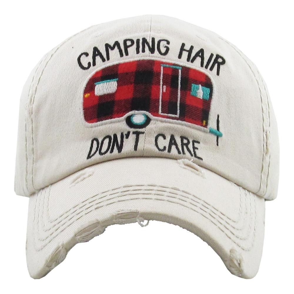 Camping Hair Don't Care vintage hat - Southern Style and Stash A Specialty Boutique