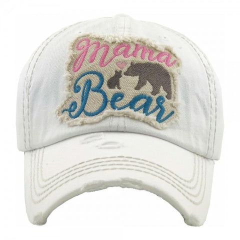 Mama Bear embroidered vintage distressed baseball cap. - Southern Style and Stash A Specialty Boutique