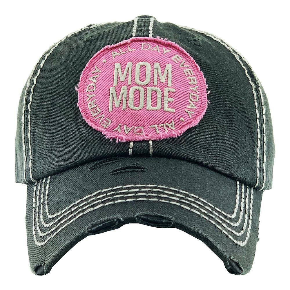 All Day Everyday Mom Mode Embroidered Distressed Baseball Cap. - Southern Style and Stash A Specialty Boutique
