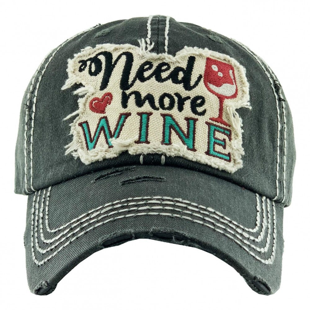 """Need More Wine"" Black"