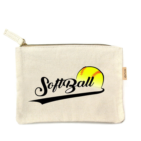 Softball canvas travel pouch. - Southern Style and Stash A Specialty Boutique