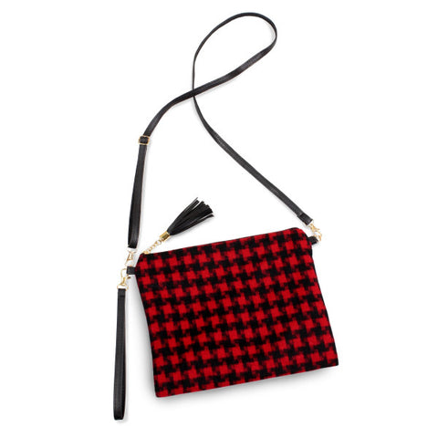 Georgia Bulldog color crossbody/clutch bag featuring a lined inside pocket detail and zipper closure. - Southern Style and Stash A Specialty Boutique