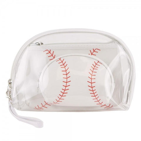 Baseball clear 3pc travel pouch set - Southern Style and Stash A Specialty Boutique