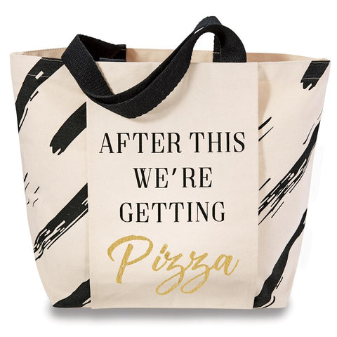 GETTING PIZZA CANVAS GYM TOTE - Southern Style and Stash A Specialty Boutique