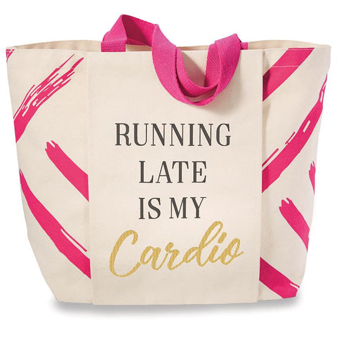 RUNNING LATE CANVAS GYM TOTE - Southern Style and Stash A Specialty Boutique