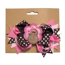 Pink Turkey Hairbow