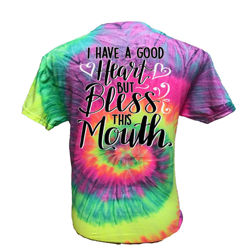 Bless this Mouth - Tie-Dye Minty Rainbow - Southern Style and Stash A Specialty Boutique