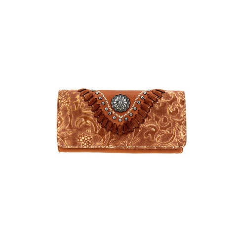 Brown Concho Wallet/Wristlet - Southern Style and Stash A Specialty Boutique
