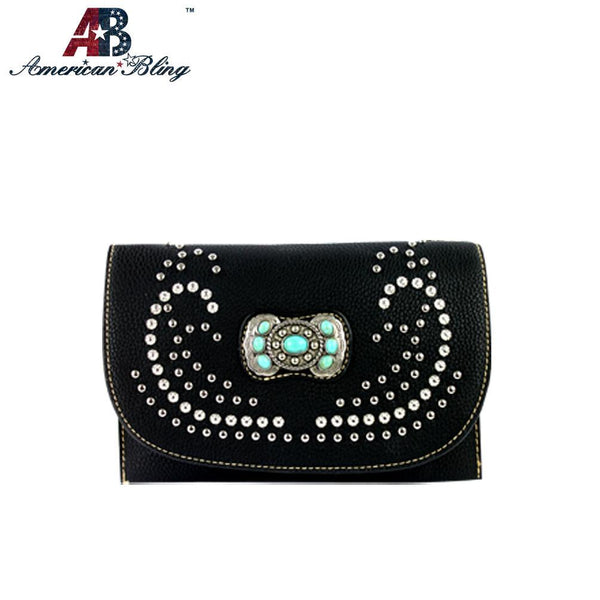 Studded Concho Clutch/Mini Shoulder Bag - Southern Style and Stash A Specialty Boutique