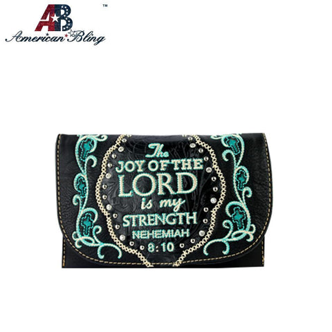 Embroidered Bible Verse Clutch/Mini Shoulder Bag - Southern Style and Stash A Specialty Boutique