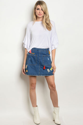 BLUE DENIM SKIRT - Southern Style and Stash A Specialty Boutique