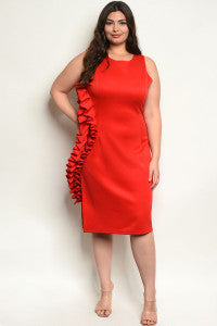RED PLUS SIZE DRESS - Southern Style and Stash A Specialty Boutique