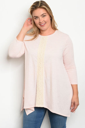 Blush Plus Size top - Southern Style and Stash A Specialty Boutique