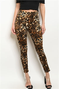 BROWN ANIMAL LEOPARD PRINT LEGGINGS - Southern Style and Stash A Specialty Boutique