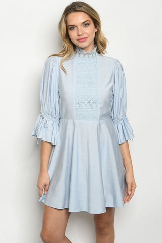 Adorable Baby Blue Dress. Look at the back of it! - Southern Style and Stash A Specialty Boutique