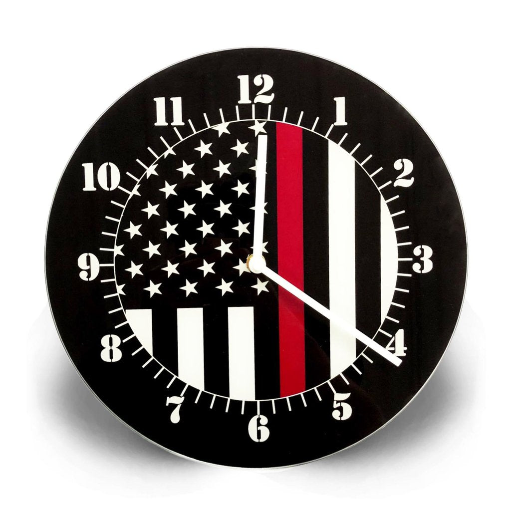 Thin Red Line Clock