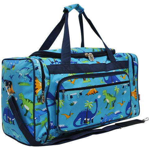 "Friendly Dinosaur NGIL Canvas 23"" Duffle Bag - Southern Style and Stash A Specialty Boutique"