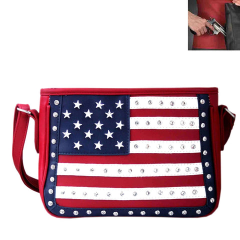 Concealed Carry U.S. Flag Patriotic Theme Crossbody Bag - Southern Style and Stash A Specialty Boutique