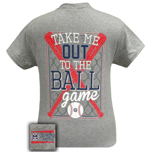 BASEBALL SPORTS GREY SHORT SLEEVE TEE