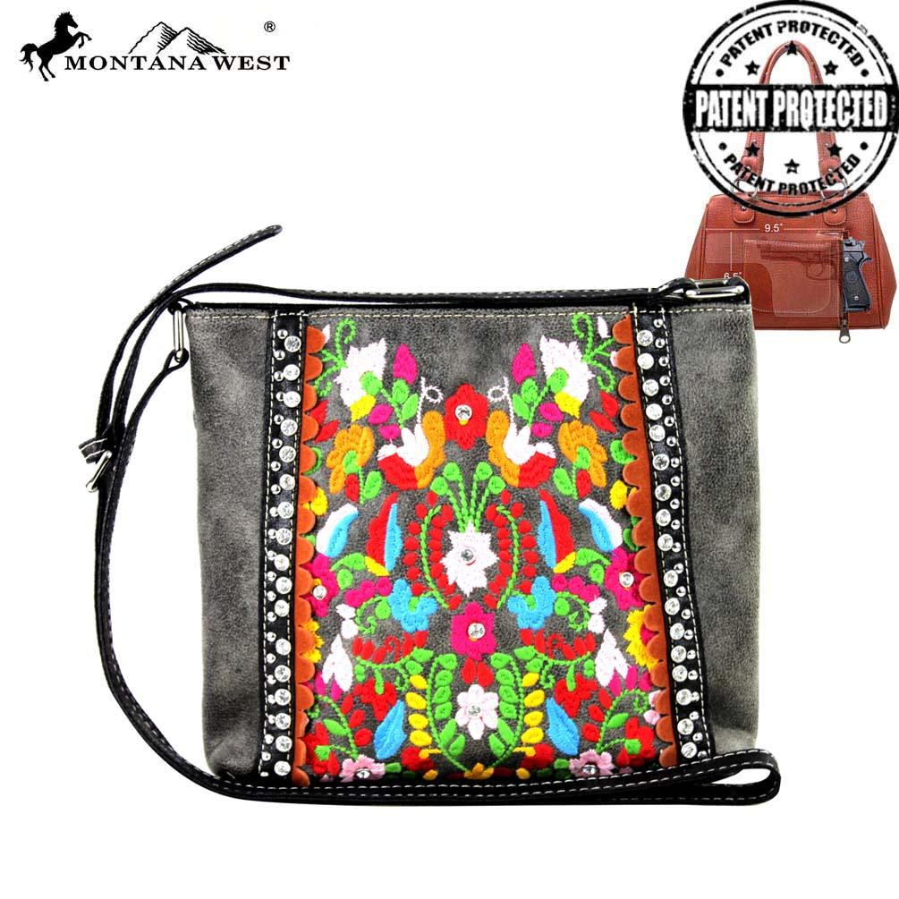 Embroidered Collection Concealed Carry Crossbody - Southern Style and Stash A Specialty Boutique