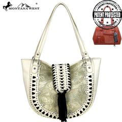 Montana West Embossed Collection Concealed Carry Tote