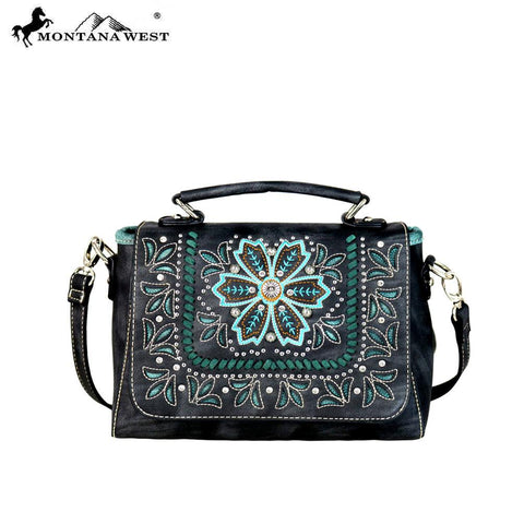 Embroidered Collection Top Handle Crossbody - Southern Style and Stash A Specialty Boutique