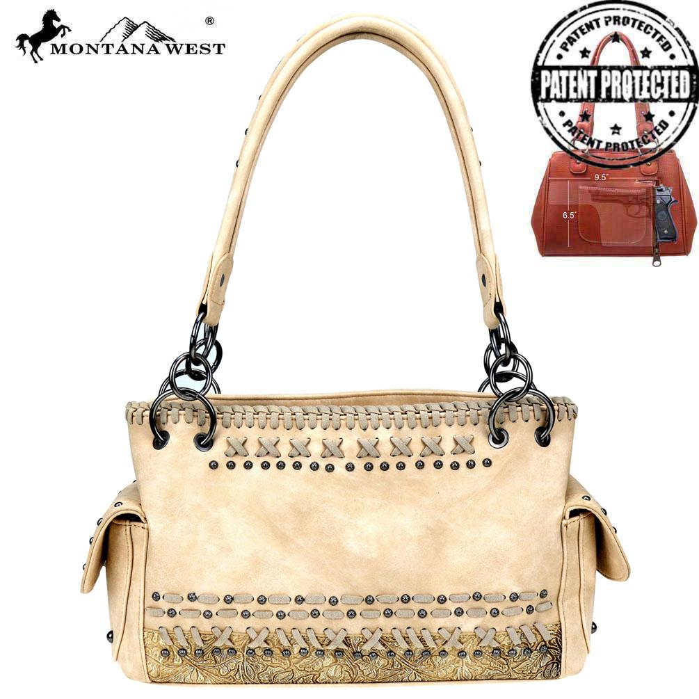 Embossed Collection Concealed Carry Satchel - Southern Style and Stash A Specialty Boutique
