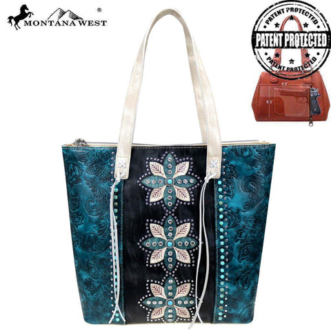 Concho Collection Concealed Carry Tote - Southern Style and Stash A Specialty Boutique