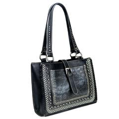 Montana West Buckle Tote Black
