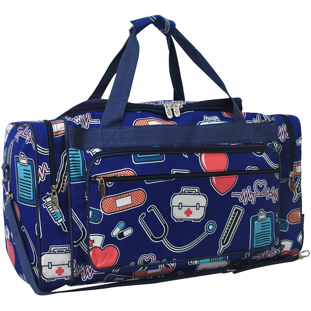 "Nurse Canvas 23"" Duffle Bag - Southern Style and Stash A Specialty Boutique"