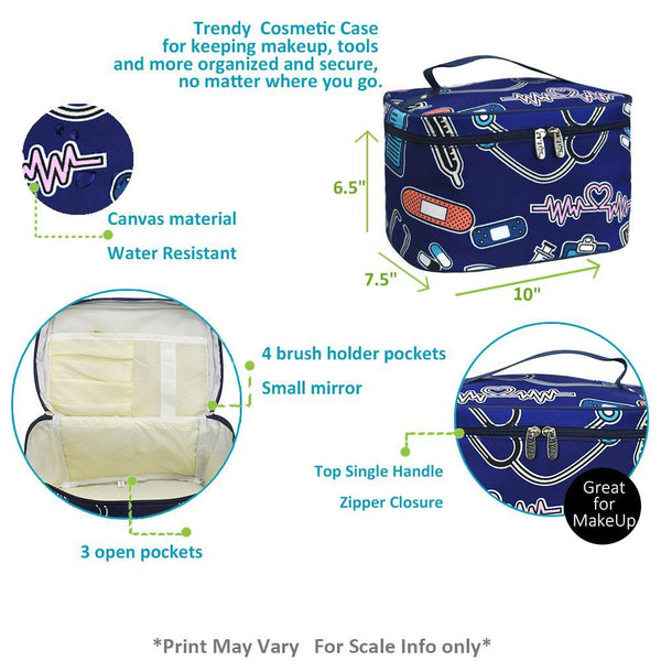 Nurse Large Top Handle Cosmetic Case - Southern Style and Stash A Specialty Boutique