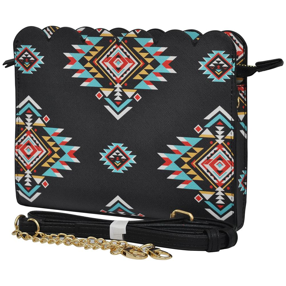 Southern Tribe Leather Scallop Crossbody - Southern Style and Stash A Specialty Boutique