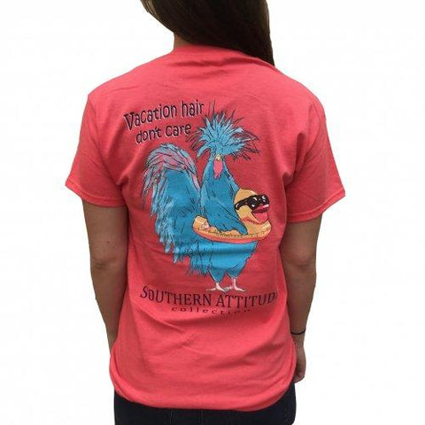 Vacation Hair Chicken - Coral - Southern Style and Stash A Specialty Boutique